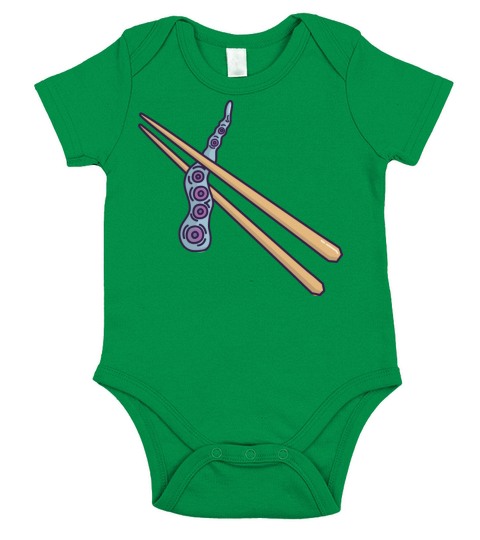 Octopus with chopsticks Short Sleeve Baby One-Piece